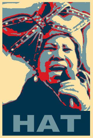 aretha hat poster