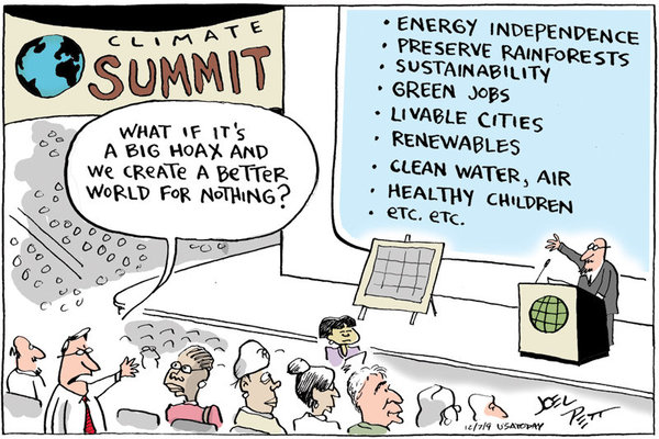 What if climate change is a big hoax and we create a better world for nothing?